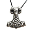 Mjölnir and Tanngrisnir™ - Thor's Hammer Goat Necklace
