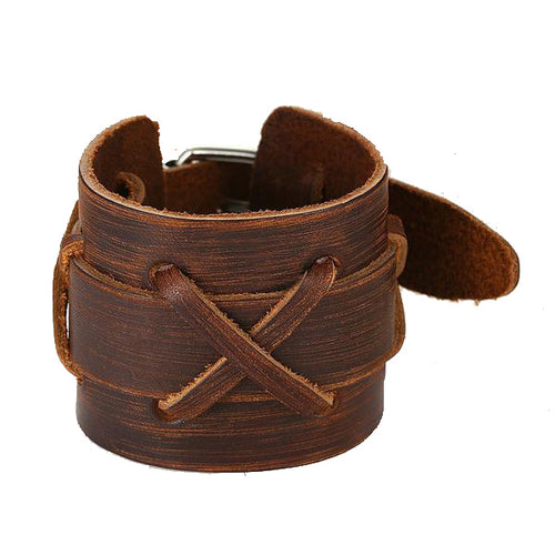Viking's Tough Leather™ - Leather Viking Bracelet