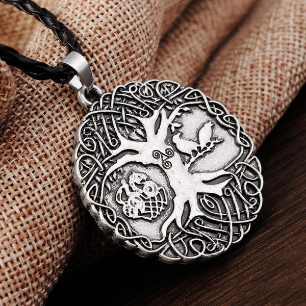 Yggdrasil's Totalness™ - Viking Tree Sleipnir Raven Necklace