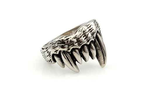 Fenrir's Teeth™ - Viking Wolf Steel Ring