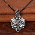 Geri and Freki's Embrace™ - Viking Wolf Necklace