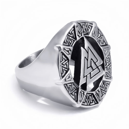 Valknut for the Warriors™ - Viking Valknut Steel Ring