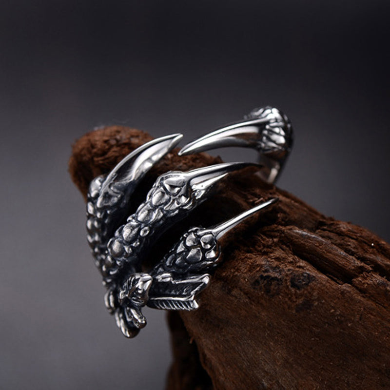 Huginn's Claw™ - Viking Raven Steel Ring