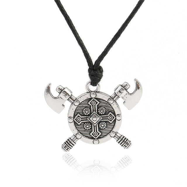 Viking's Trustee™ - Viking Axe and Shield Necklace