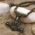 Mjölnir and Huginn & Muninn™ - Thor's Hammer Viking Raven Necklace