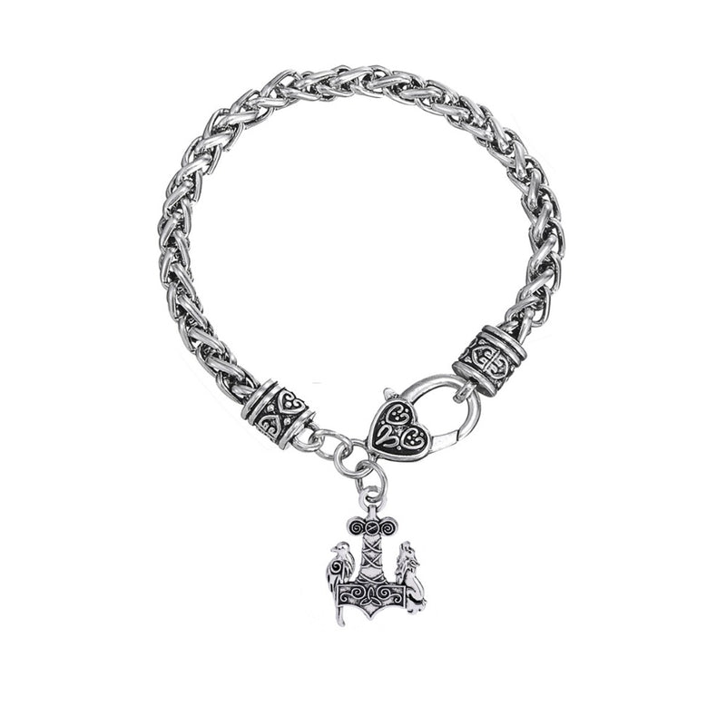 Ravens and Wolves™ - Viking Raven and Wolf Charm Bracelet