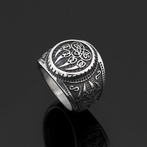 Strength of the Wolves™ - Stainless Steel Viking Wolf Ring