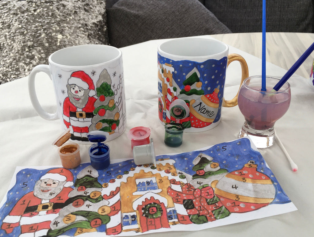 Christmas Painting By Numbers Mugs