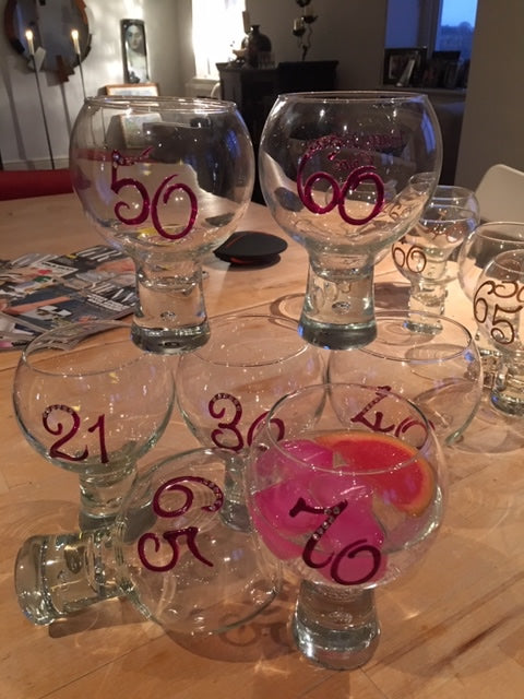 Birthday Gin & Tonic Glasses