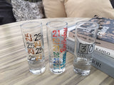Birthday Shot Glasses