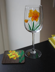 Wineglass and coaster