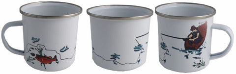 Fishing Enamel Mug
