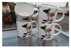 Hudson & Middleton Fine Bone China Mugs - DM Collection Dog (Set of 4)