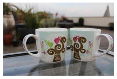 Hudson & Middleton Fine Bone China Mugs - Valentina Range You and Me (Set of 2)