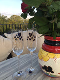 45th Anniversary Champagne Flutes