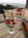 Poppy Gin & Tonic Glass and Wine Glass