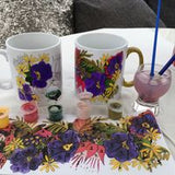 PAINTING BY NUMBERS MUG CRAFT KIT BRIGHT FLOWERS