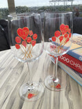 40th Wedding Anniversary Wine Glasses