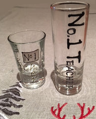 Teacher shot glasses