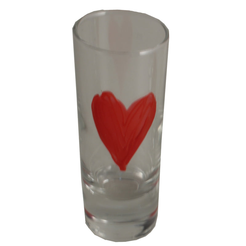 Heart Design Gift Shot Glass: (Red)