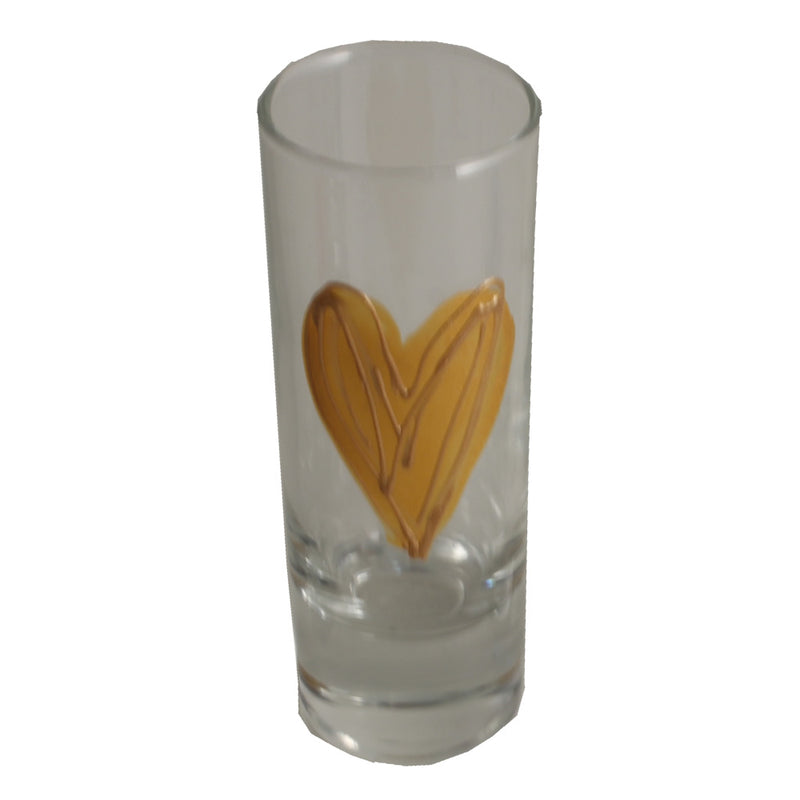 Heart Design Gift Shot Glass: (Gold)