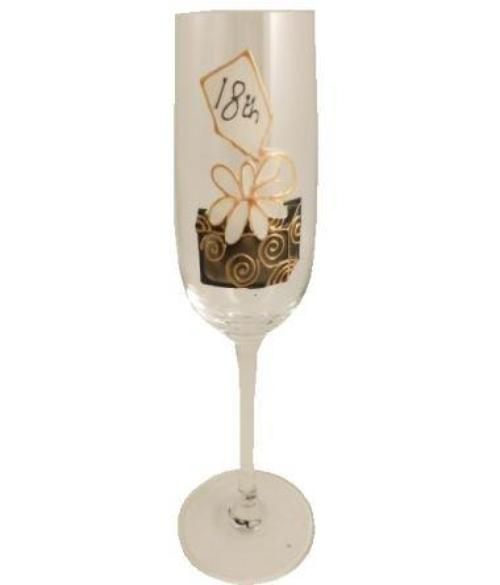 18th Birthday Champagne Glass Birthday Box
