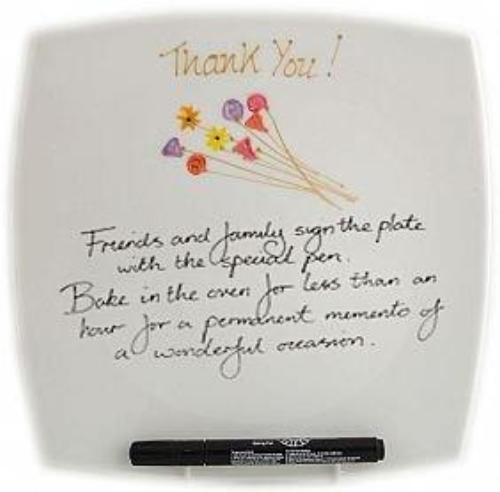 Thank You Gift Signature Plate Sq