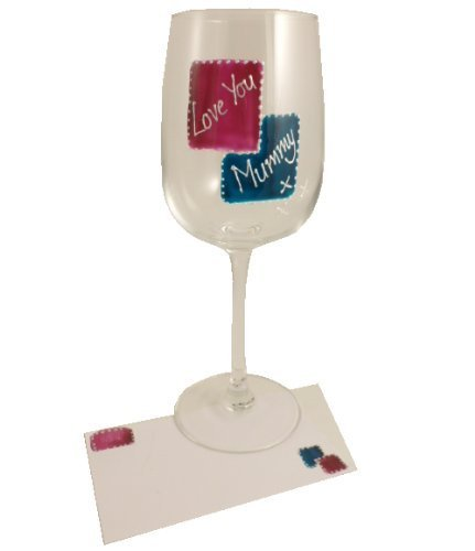 Love You Mummy Wine Glass: (Mag/Teal)