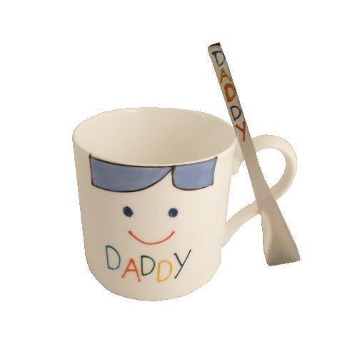 Daddy China Mug/Spoon Gift Set: (Brights)