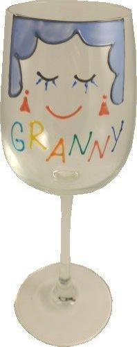 Granny Design Gift Wine Glass: (Cami Brights)