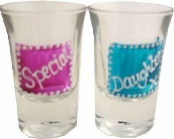 Special Daughter Gift Shot Glasses: (2 pk)