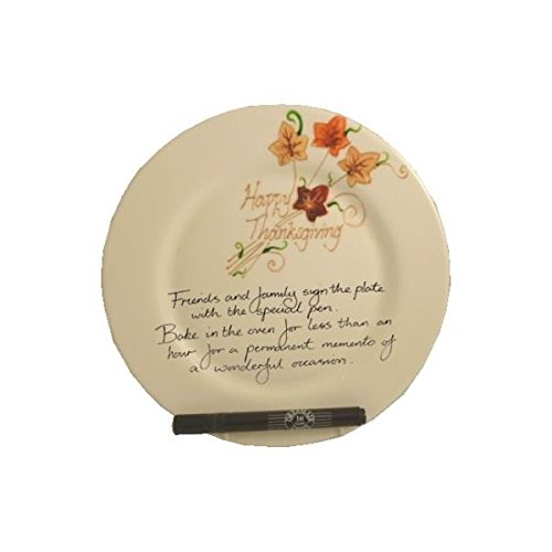 Thanksgiving Signed and Sealed Plate: (Round)