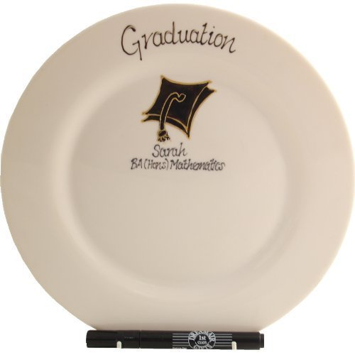 Graduation Gift Signed/Sealed Plate: (Round)