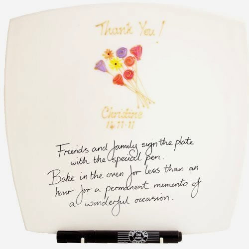 Thank You Gift Signature Plate: Sq