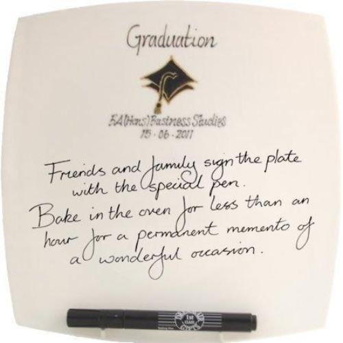 Graduation Gift Signed/Sealed Plate: (Sq)