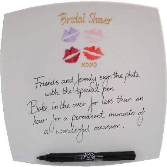Bridal Shower Square Plate (Lips)