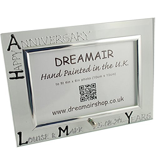 Personalised Photo Frame Land Blk/Sil
