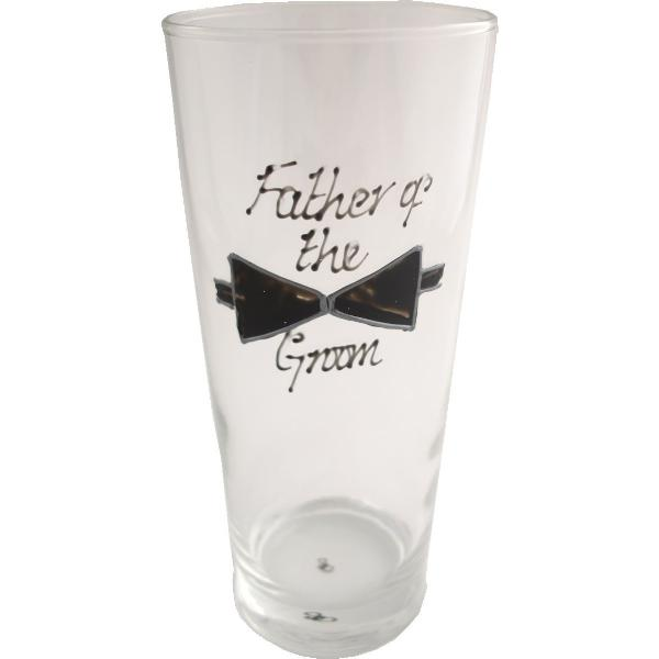 Father of the Groom Pint Glass (Bow)