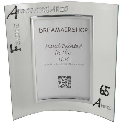 Cornice Foto 65° Anniversario - 65th Anniversary Photo Frame Port (Blk/Sil)