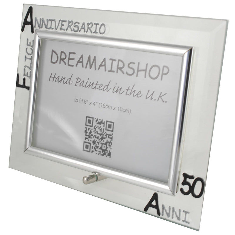 Cornice Foto 50° Anniversario - 50th Anniversary Photo Frame Land (Blk/Sil)