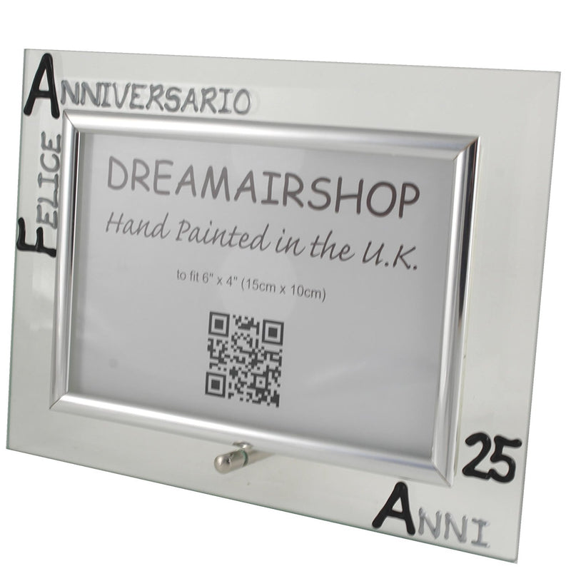 Cornice Foto 25° Anniversario - 25th Anniversary Photo Frame Land (Blk/Sil)