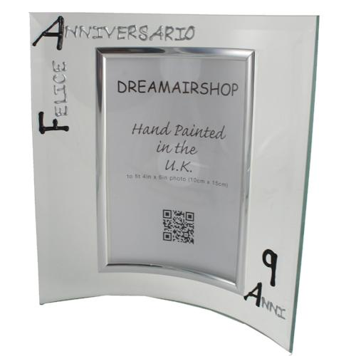 Cornice Foto 9° Anniversario - 9th Anniversary Photo Frame Port (Blk/Sil)