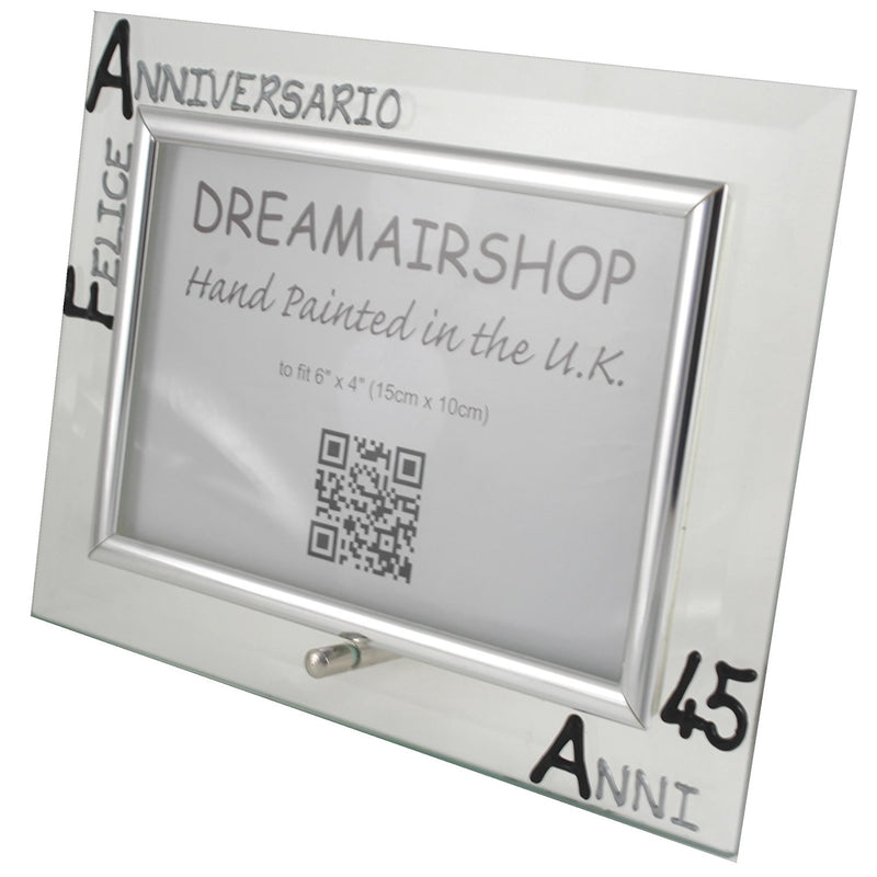 Cornice Foto 45° Anniversario - 45th Anniversary Photo Frame Land (Blk/Sil)
