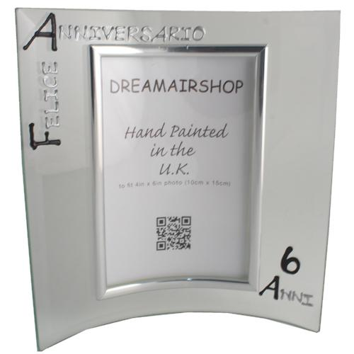 Cornice Foto 6° Anniversario - 6th Anniversary Photo Frame Port (Blk/Sil)