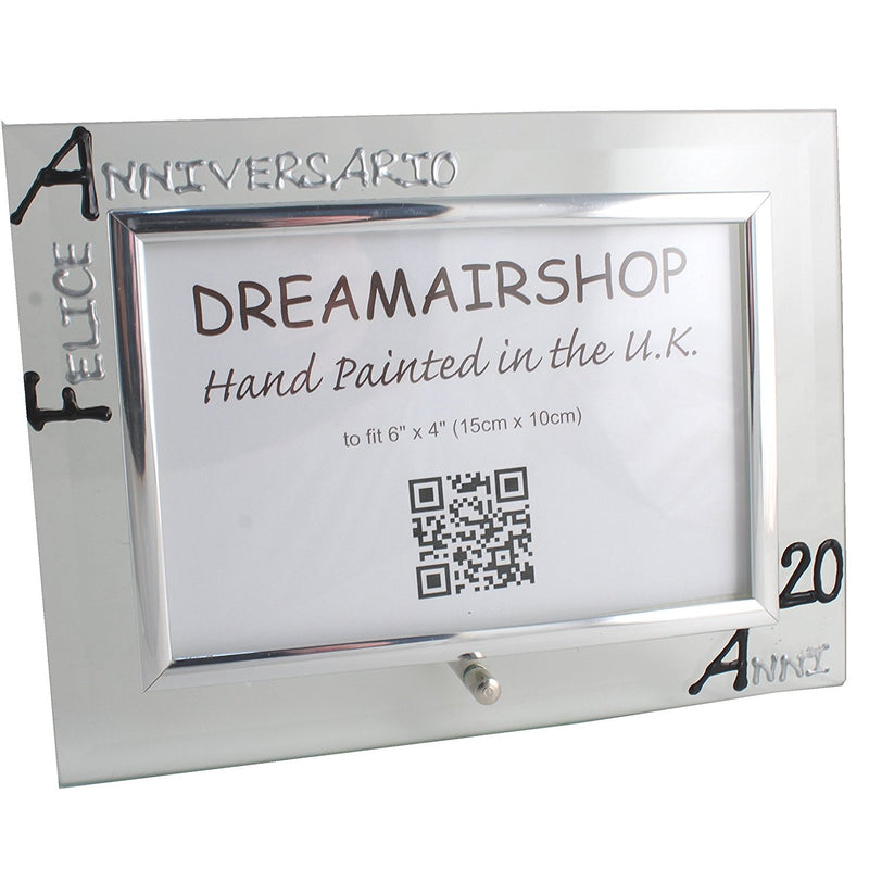 Cornice Foto 20° Anniversario - 20th Anniversary Photo Frame Land (Blk/Sil)
