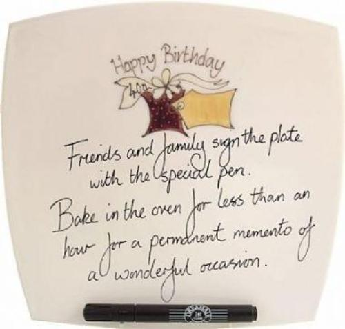 40th Birthday Gift Square Plate Box