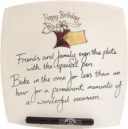 90th Birthday Gift Square Plate Box