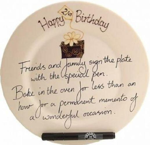 21st Birthday Gift Square Plate Box