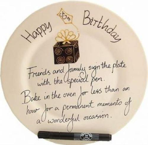 30th Birthday Gift Square Plate Box