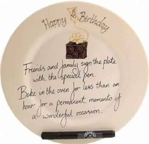 60th Birthday Gift Square Plate Box